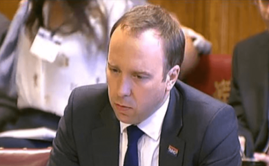 Matt Hancock speaking to a House of Lords committee