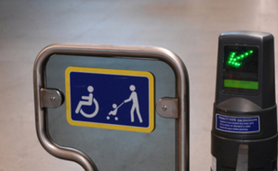 Accessible transport barrier
