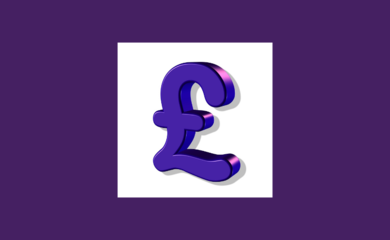 Purple coloured pound sign