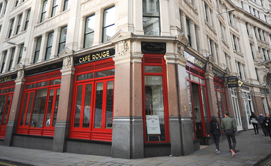 Cafe Rouge shop front