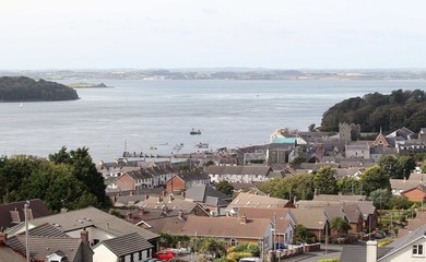 An area of Ards and North Down with houses and the sea in view