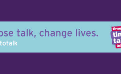 Image reads - choose talk, change lives #timetotalk