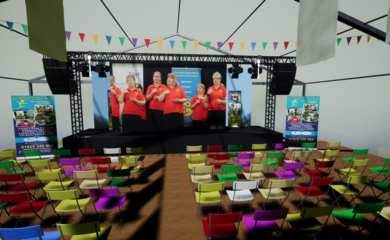 Virtual event site and marquees at the 2020 Disability Awareness Day.