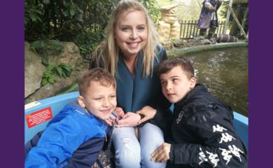 Natalie Gardner with her boys