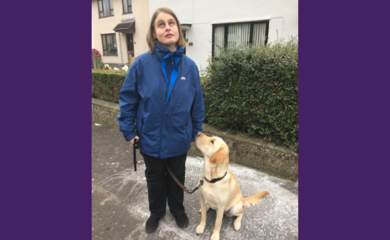 Torie with her guide dog