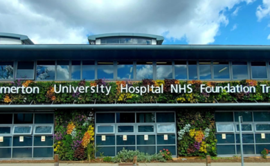 Living wall at Homerton University Hospital