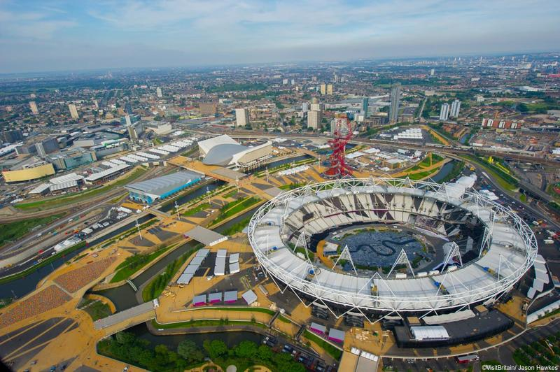 View of the Olympic Park from above