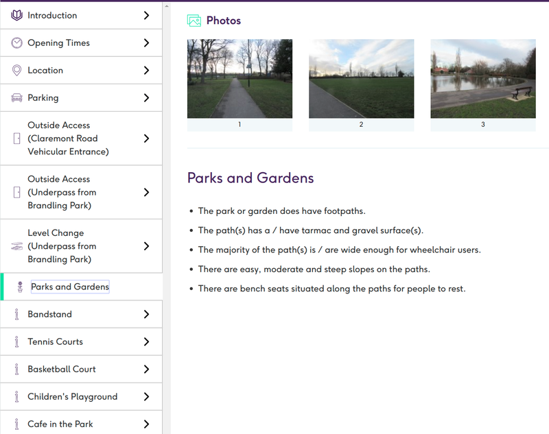 AccessAble Detailed Access Guide for Exhibition Park
