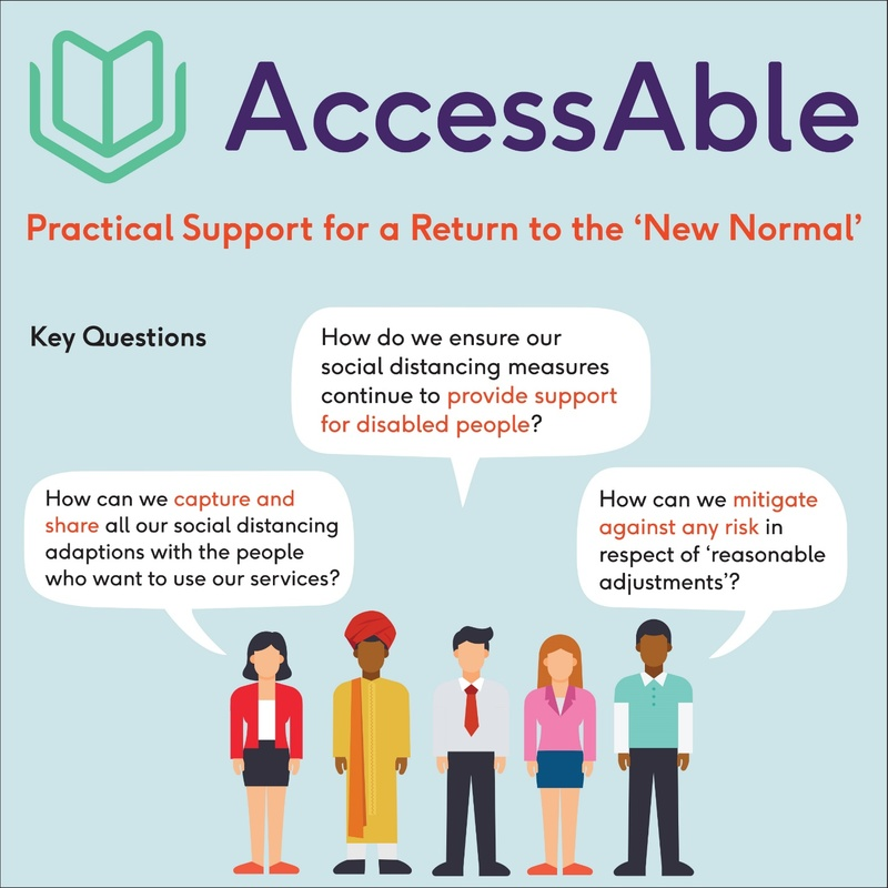 AccessAble 'new normal' infographic