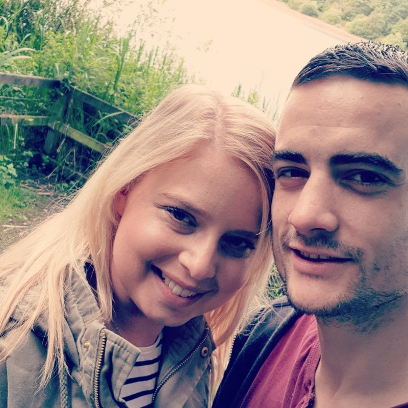 Natalie with her boyfriend