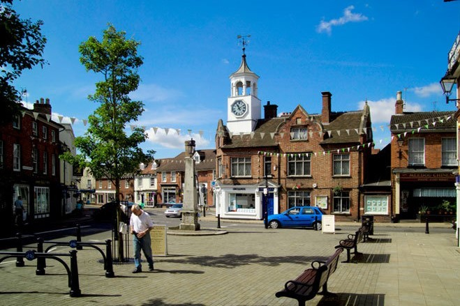 Bedfordshire town square