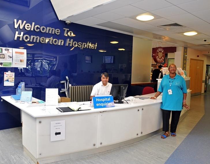 Homerton University Hospital reception